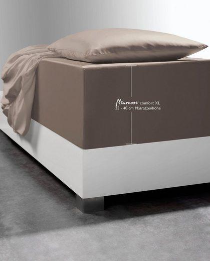 Spannbettlaken »Comfort XL«, fleuresse, mit Elasthan für besonders hohe Matratzen