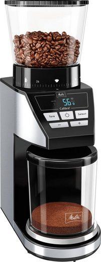 Melitta Kaffeemühle Calibra 1027-01 schwarz-Edelstahl, 160 W, Kegelmahlwerk, 375 g Bohnenbehälter