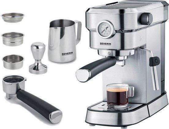 """Severin Espressomaschine KA 5995 """"Espresa Plus"""", inkl. Tamper und Edelstahl-Milchschaumkännchen"""