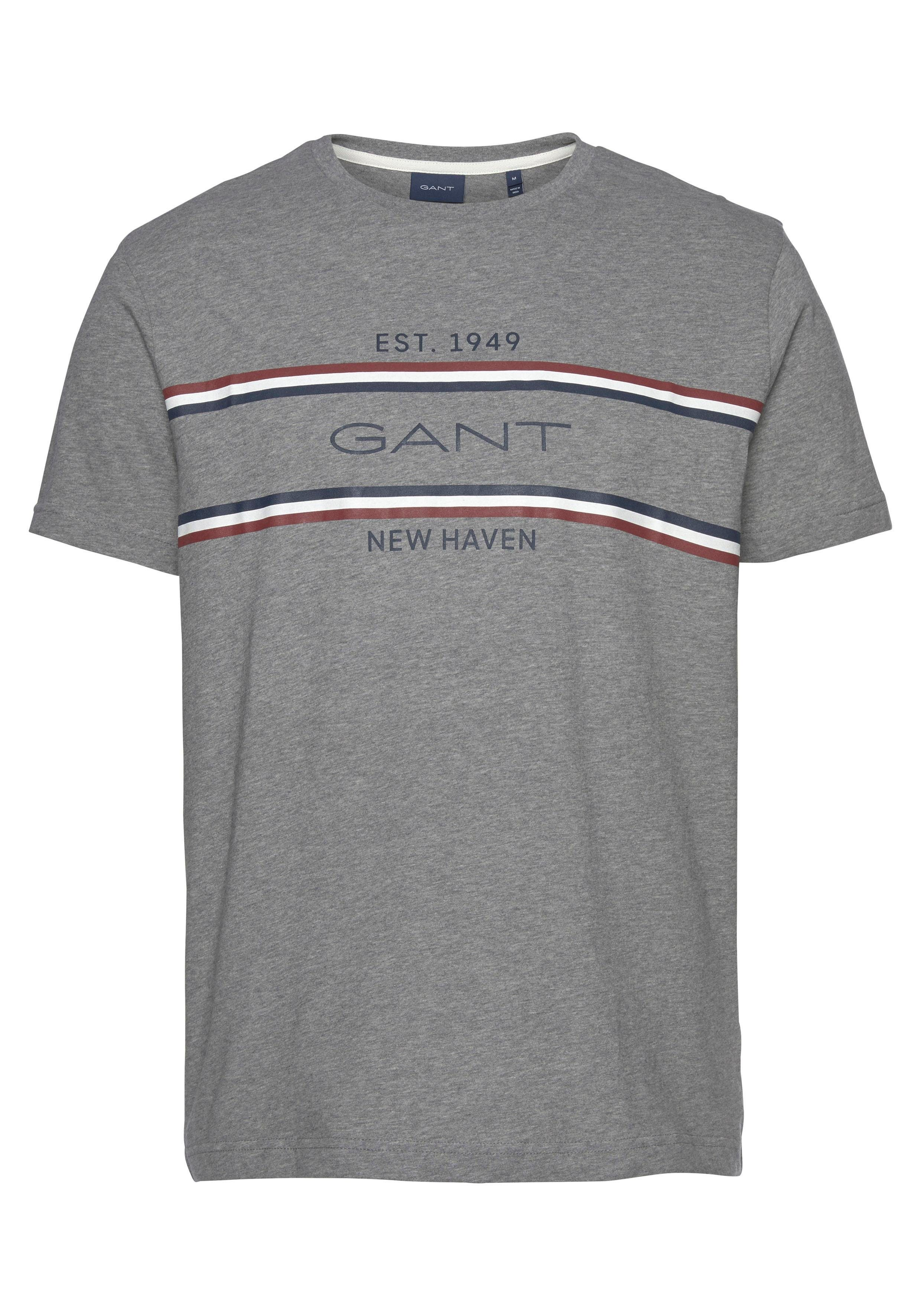Gant T shirt 'archive Stripe' Herren Bekleidung T shirts