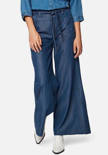 Mavi Palazzohose »FLARE LEG PANTS« mit passenden Textilbandgürtel