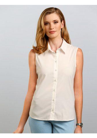 Блузка с хлопок без рукава
