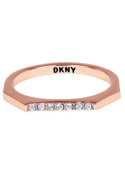 DKNY Fingerring »NYC Skinny Pave RG (RG), 5548761, 5548762, 5548763«, mit Swarovski® Kristallen