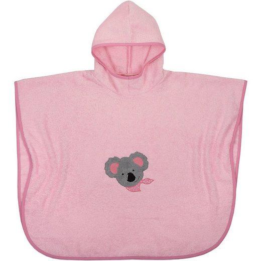 Badeponcho »Badeponcho Koala, rosa, 75x120 cm«, Wörner