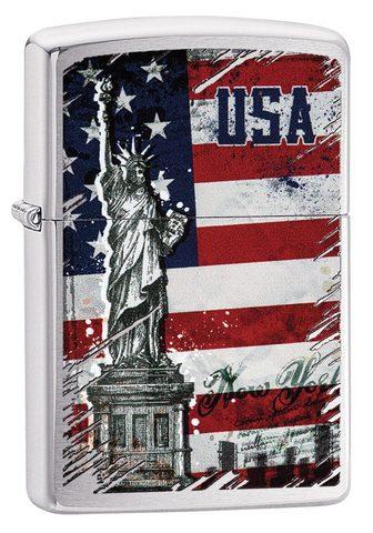 ZIPPO Feuerzeuge »Statue of Liberty Flag«