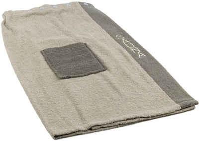 Sarong »Damen Wellness«, Gözze, mit verstellbaren Knöpfen und aufgesetzter Tasche