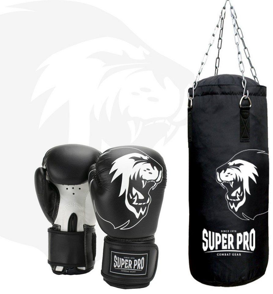 Ring Sport Profi Boxsack  Gefüllt 25 kg 120 x 35 cm Schwarz Weiss