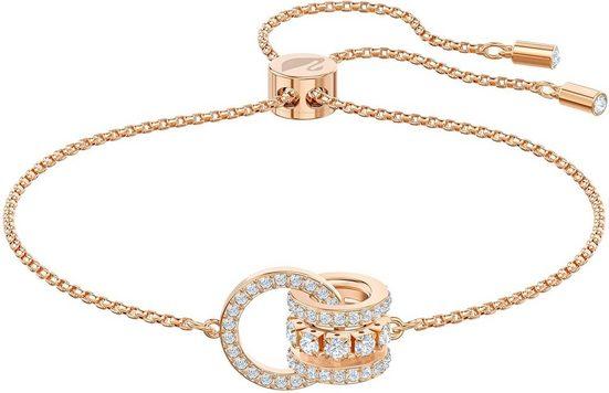 Swarovski Armband »Further, weiss, Rosé vergoldet, 5501092«, mit Swarovski® Kristallen