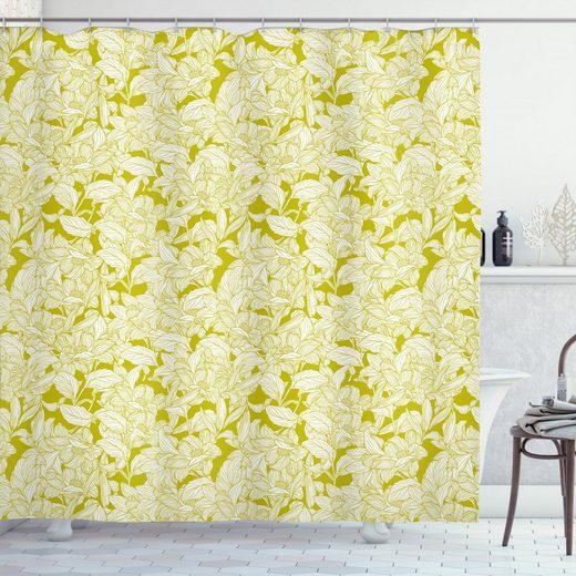 Abakuhaus Duschvorhang »Moderner Digitaldruck mit 12 Haken auf Stoff Wasser Resistent« Breite 175 cm, Höhe 180 cm, Blumen Monochrome Blume Silhouette