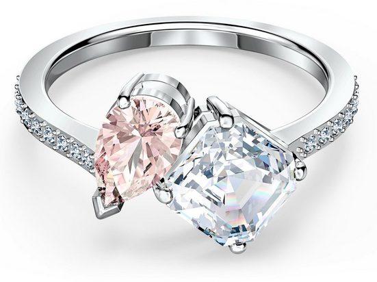 Swarovski Fingerring »Attract Soul, rosa, rhodiniert, 5535339, 5535310, 5514541, 5535260, 5535285«, mit Swarovski® Kristallen