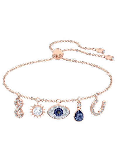 Swarovski Armband »Symbolic, mehrfarbig, Rosé vergoldet, 5497668«, mit Swarovski® Kristallen