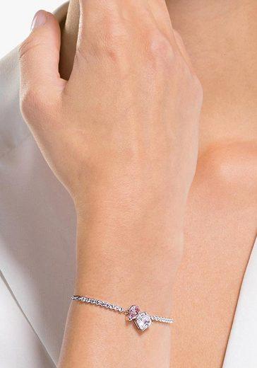 Swarovski Armband »Attract Soul  rosa  rhodiniert  5517120«  mit Swarovski® Kristallen