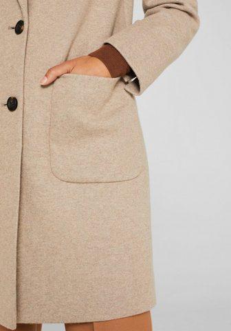 ESPRIT Megztas paltas