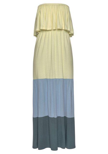 LASCANA Bandeaukleid in Colorblocking-Optik | Bekleidung > Kleider > Bandeaukleider | Lascana