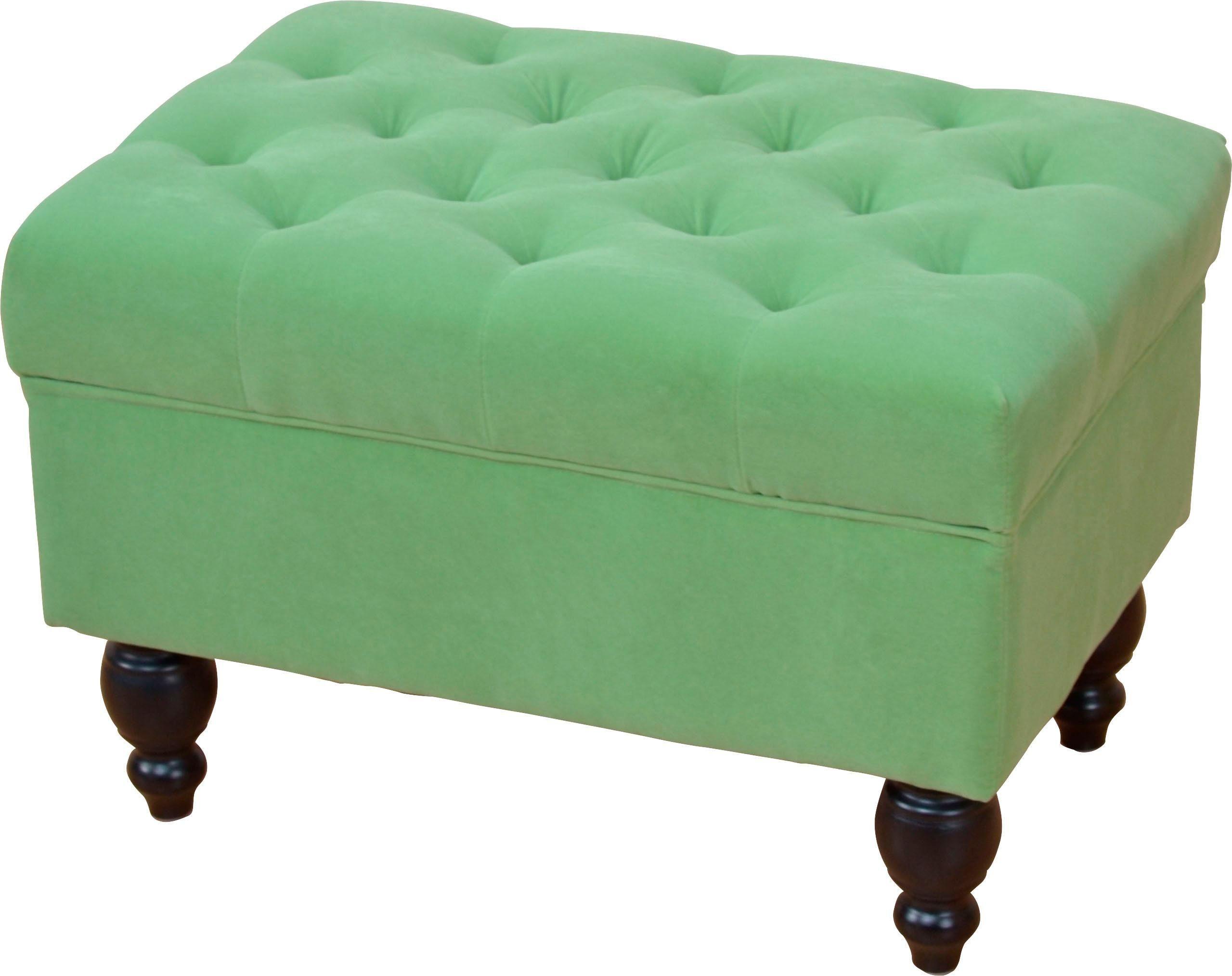 Home affaire Hocker Julia grün Polsterhocker Nachhaltige Möbel