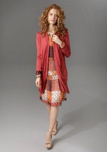 Aniston CASUAL Strickjacke in Longform mit Seitenschlitzen