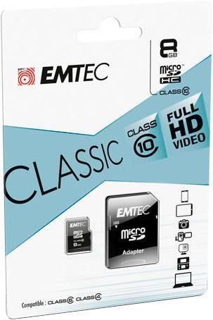 EMTEC »microSD Class10 Classic« Speicherkarte (8 GB, Class 10, 30 MB/s Lesegeschwindigkeit)