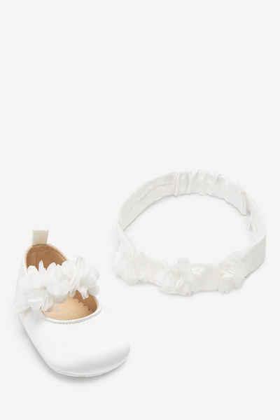 Next »Set aus geschnürten Babyschuhen und Haarband« Babystiefel (1-tlg)