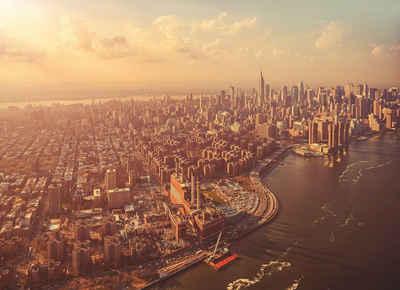 Komar Fototapete »Manhattan«, glatt, bedruckt, Stadt, Kunst, (Set), ausgezeichnet lichtbeständig