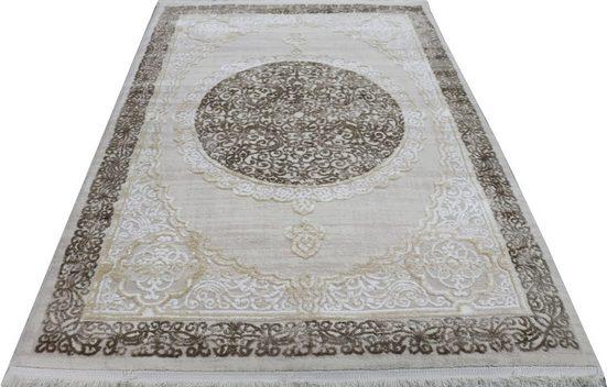 Teppich »Lara 330«, RESITAL The Voice of Carpet, rechteckig, Höhe 11 mm, Kurzflor mit Hoch-Tief-Struktur, Wohnzimmer
