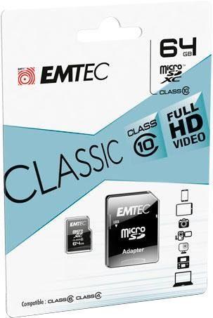 EMTEC »microSD Class10 Classic« Atminties ko...