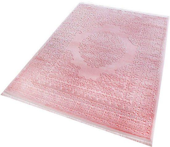 Teppich »Premium 4212«, RESITAL The Voice of Carpet, rechteckig, Höhe 15 mm, Kurzflor mit Hoch-Tief-Struktur, Wohnzimmer