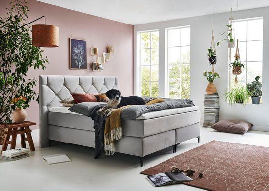 Premium collection by Home affaire Boxspringbett »Aiko«, 100% vegan, mit tierfreundlichem Bezugssstoff, besonders pflegeleicht