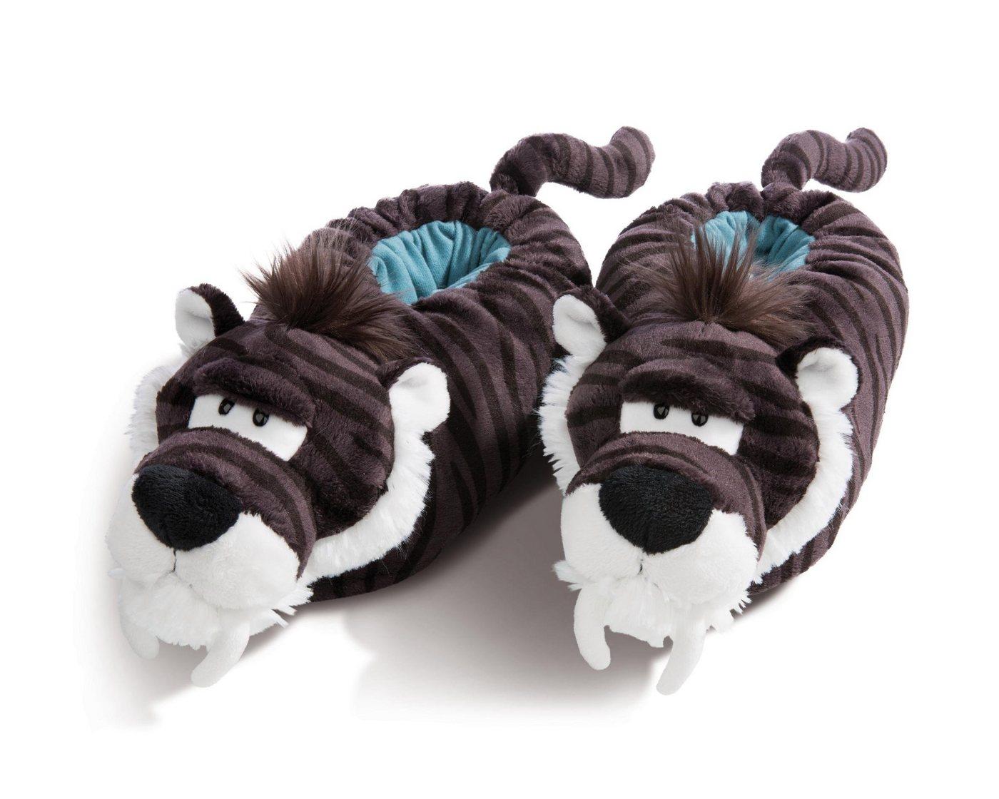 Hausschuhe - Nici »Säbelzahntiger« Plüsch Hausschuhe mit Tiger Muster ›  - Onlineshop OTTO