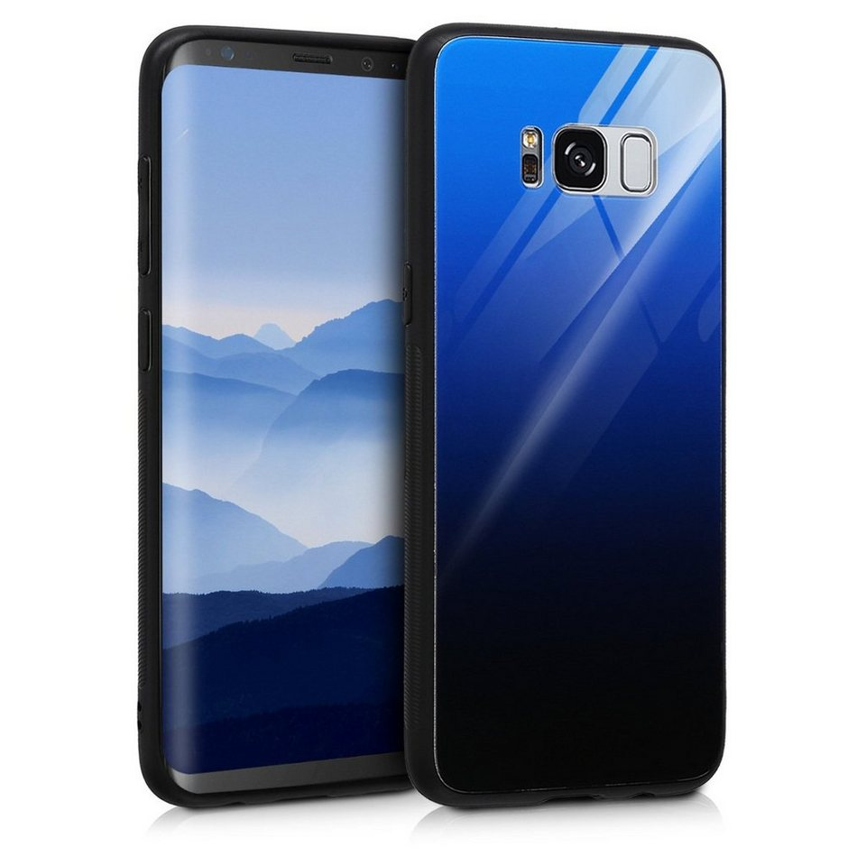 kwmobile handyh lle h lle f r samsung galaxy s8 hartglas backcover handy case glas. Black Bedroom Furniture Sets. Home Design Ideas