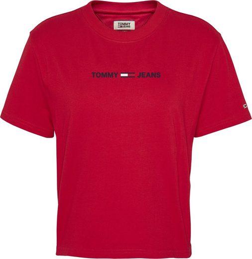 TOMMY JEANS Rundhalsshirt »TJW MODERN LINEAR LOGO TEE« mit Tommy Jeans Linear Logo-Schriftzug