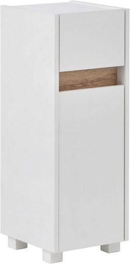 Schildmeyer Unterschrank »Cosmo« Breite 30 cm, Badezimmerschrank mit griffloser Optik, Blende im modernen Wildeiche-Look, praktische Schublade, wechselbarer Türanschlag