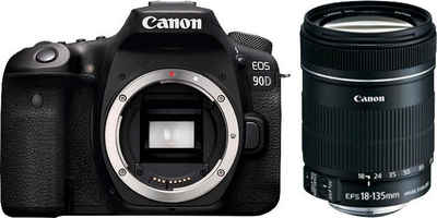 Canon »EOS 90D EF-S 18-135mm f/3.5-5.6 IS USM NANO« Spiegelreflexkamera (Canon EF-S 18-135mm f/3.5-5.6 IS, 32,5 MP, WLAN (Wi-Fi), Bluetooth)