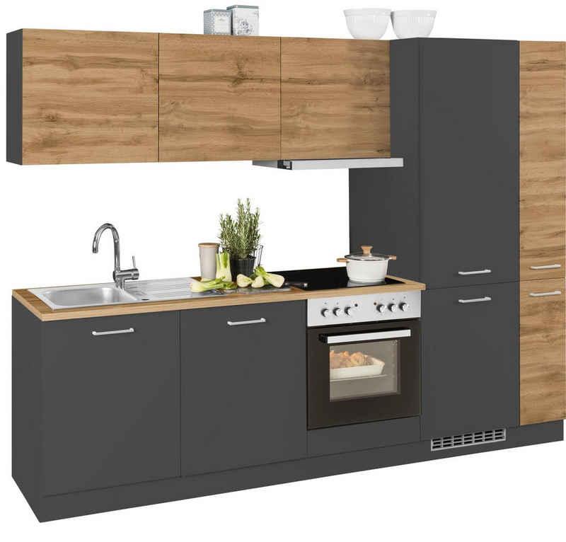 HELD MÖBEL Küchenzeile »Kehl«, mit E-Geräten, Breite 270 cm