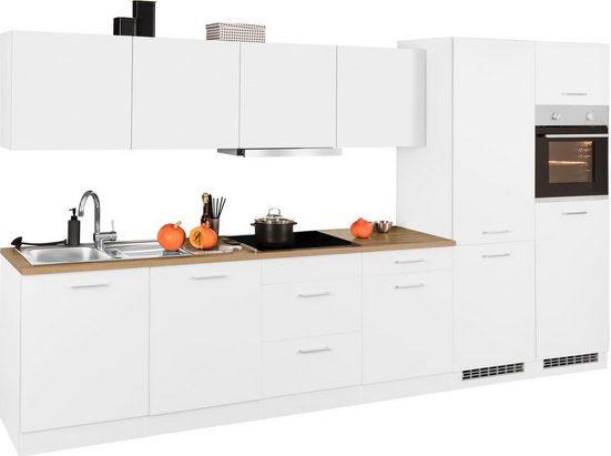 HELD MÖBEL Küchenzeile »Kehl«, mit E-Geräten, Breite 360 cm, wahlweise mit Induktionskochfeld