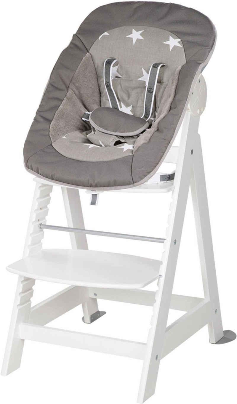 roba® Hochstuhl »2-in-1 Set Little Stars Born Up«, mit Neugeborenen-Aufsatz