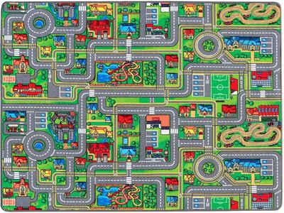 Kinderteppich »STREETS«, Primaflor-Ideen in Textil, rechteckig, Höhe 5 mm, Straßen-Spielteppich, Straßenbreite ca. 9 cm, Kinderzimmer