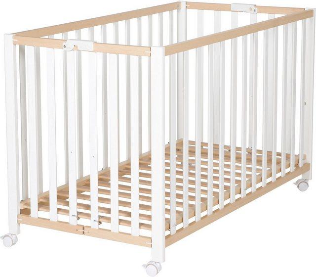 Babybetten - Roba® Babybett »Fold Up, bicolor«, klappbar  - Onlineshop OTTO