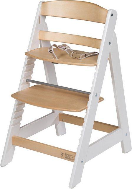 Hochstühle - Roba® Hochstuhl »Treppenhochstuhl Sit Up III, natur weiß« aus Holz  - Onlineshop OTTO