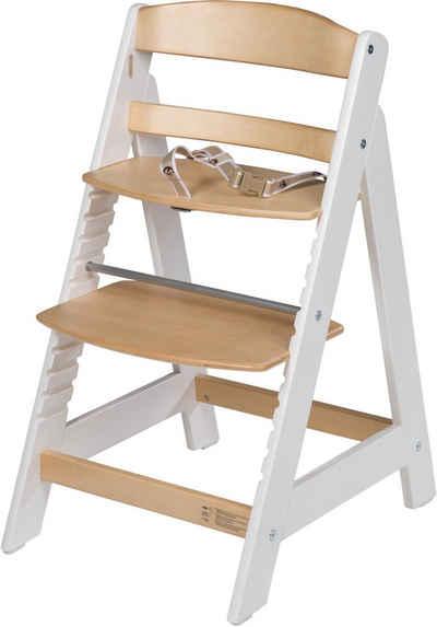 roba® Hochstuhl »Treppenhochstuhl Sit Up III, natur/weiß«, aus Holz