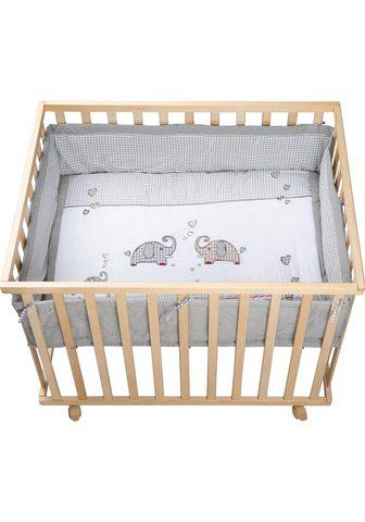 ROBA ® medinė lovytė su ratukais