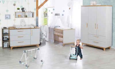 roba® Babyzimmer-Komplettset »Caro«, (Set, 3-St), breit; mit Kinderbett, Schrank und Wickelkommode