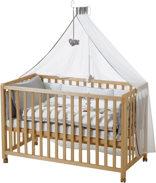 Babybetten - Roba® Babybett »Room Bed, Jumbo twins grau«, 6 tlg.  - Onlineshop OTTO