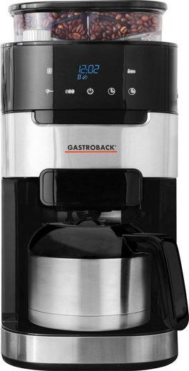 Gastroback Kaffeemaschine mit Mahlwerk 42711 S Grind & Brew Pro Thermo, 1l Kaffeekanne, Permanentfilter 1x4