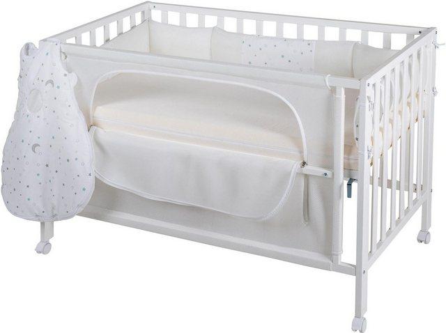 Babybetten - Roba® Babybett »Room Bed, safe asleep®, Sternenzauber weiß«, 4 tlg.  - Onlineshop OTTO