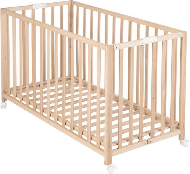 Babybetten - Roba® Babybett »Fold Up, buche«, klappbar  - Onlineshop OTTO