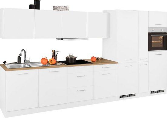 HELD MÖBEL Küchenzeile »Kehl«, mit E-Geräten, Breite 390 cm, wahlweise mit Induktionskochfeld