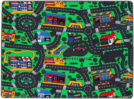 Kinderteppich »CITY«, Primaflor-Ideen in Textil, rechteckig, Höhe 5 mm, Straßen-Spielteppich