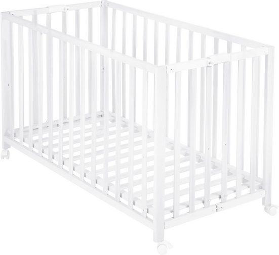 roba® Babybett »Fold Up, weiß«, klappbar