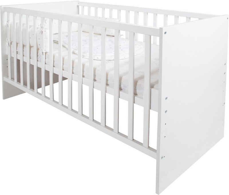 roba® Babybett »safe asleep® Sternenzauber«, 4-tlg., inkl. Matratze, Nestchen und Schlafsack