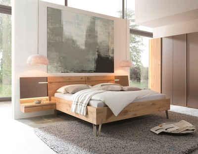 THIELEMEYER® Massivholzbett »Cubo«, Bettseitenhöhe 46 cm